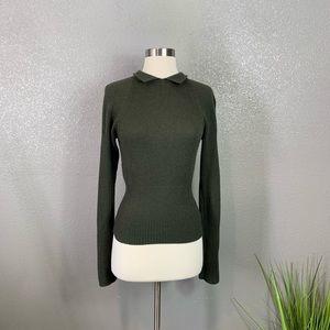 Prada knit dark green sweater 42
